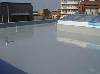 新築 RC造 ウレタン塗膜防水工事